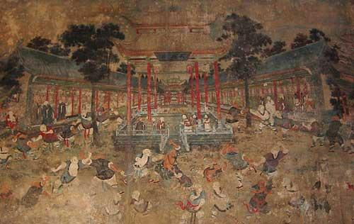 A brief history of shaolin temple home of zen buddhism for Chinese mural painting