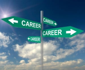 career change arrows 300x248 Follow Your Bliss or Safe Smart Career Change?