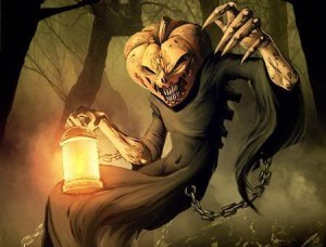 Scary Halloween Pumpkin Jack Background 300x228 Halloweens Haunted Past