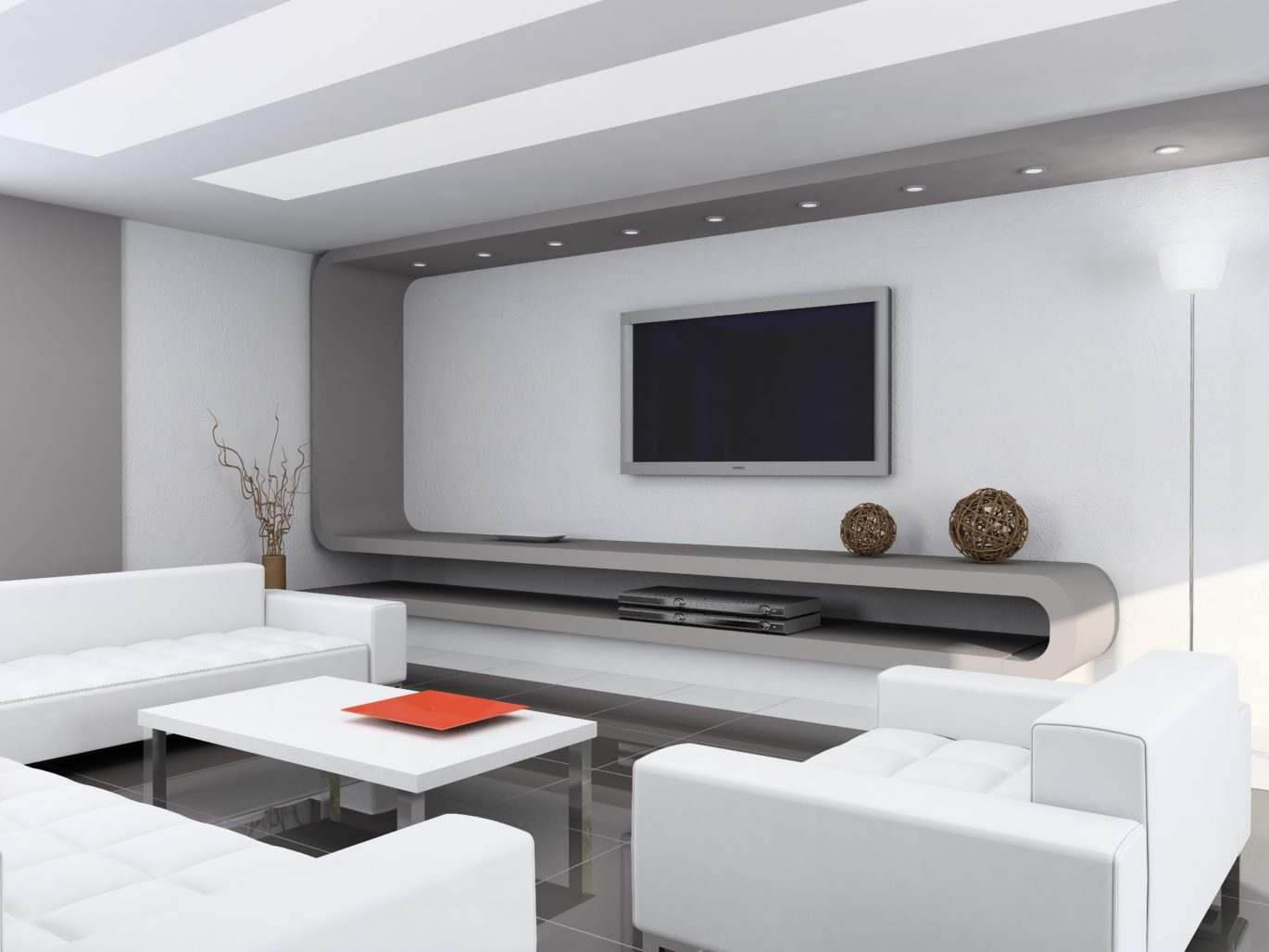 Basic Home Theater Furniture Such As Chairs And Television Cabinet May Be Good For Your Set Up Other That Will Enhance
