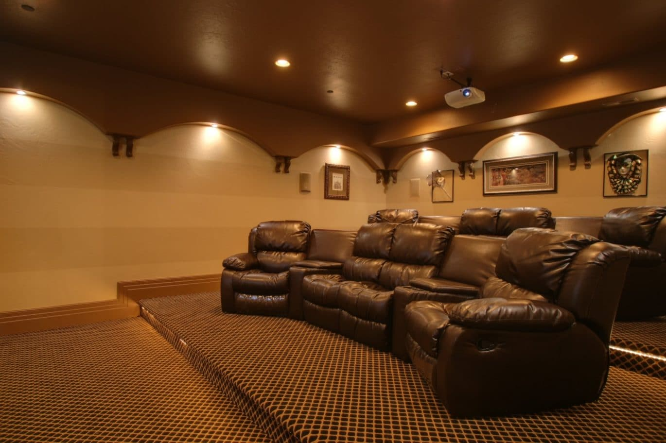 Complete your home theater decoration with home theater Discount designer home decor