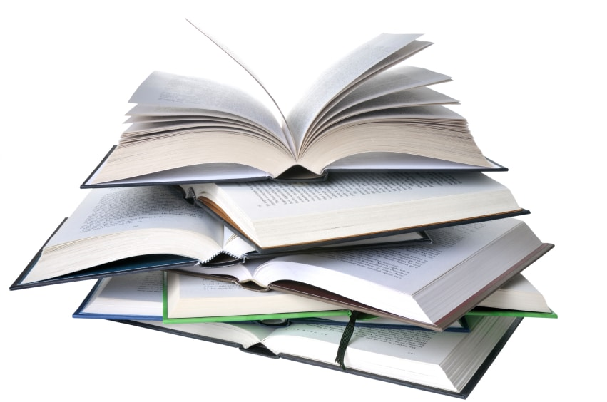 Self publishing vs small presses can your publisher do more for you stack of open books solutioingenieria Gallery