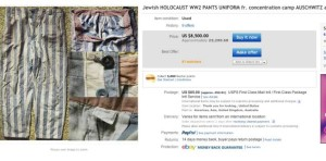 Jewish HOLOCAUST WW2 PANTS UNIFORM fr. AUSCHWITZ armband star Holocaust items being sold on Ebay Simon Murphy story 1 11 2013