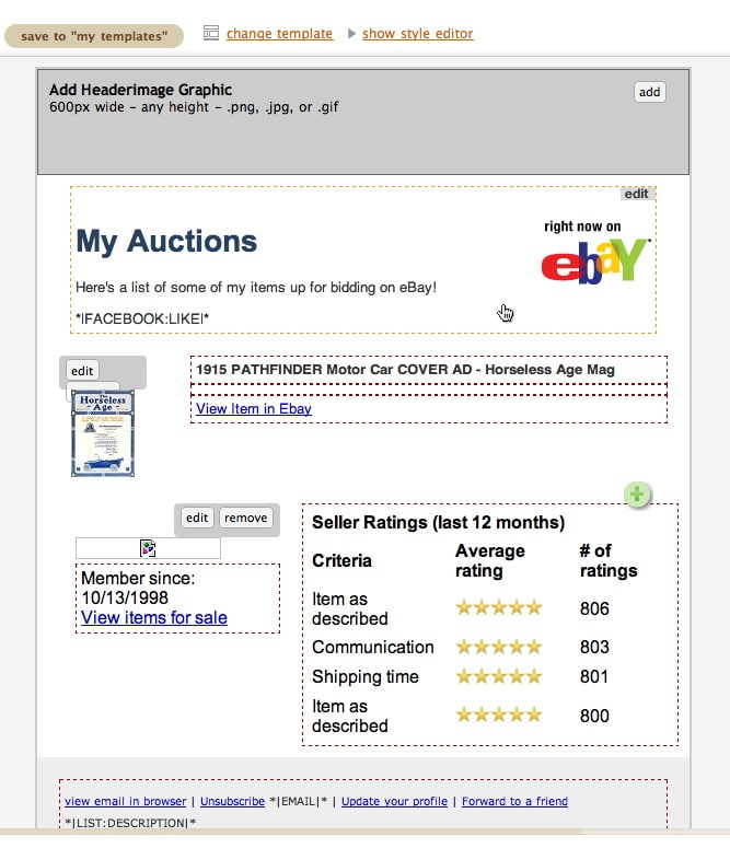 ebay description writing tips robert jr graham. Black Bedroom Furniture Sets. Home Design Ideas